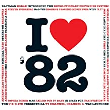1982 BIRTHDAY or ANNIVERSARY GIFT - I Love 1982 Greeting Card & 1982 Chart Hits Compilation Music CD Gift with 20 Original Songs All Downloadable