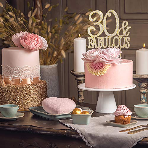 30 And Fabulous Rhinestone Cake Topper