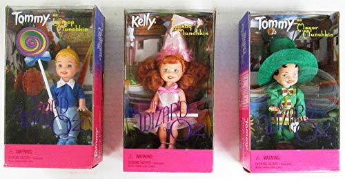 Barbie The Wizard of Oz Tommy Lollipop Munchkin, Tommy Mayor, Kelly Lullaby Set o 3