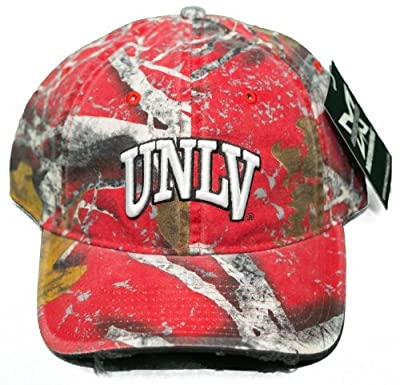 NEW! University of Nevada, Las Vegas Rebels Buckle Back Hat Embroidered Camo Cap from Mothwing Camo
