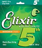 Elixir Strings Nickel Plated Steel with NANOWEB Coating, Custom Bass 5th String Single, Light B, Long Scale TaperWound (.130tw)