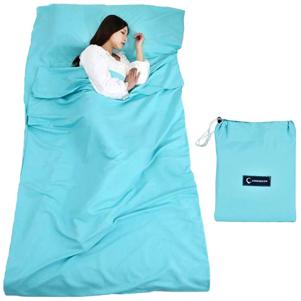 Queta cabaña Saco de Dormir Saco de Dormir Saco de Dormir con Bolsa Ideal para Interior hostels Cabañas albergues Camping Exterior