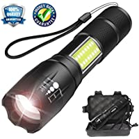 Smartmago Tactical 1000 Lumens CREE T6 LED Flashlight with COB Light (Portable, Zoomable, Water & Shock Resistant)
