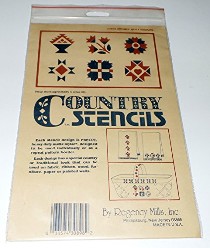 Antique Quilt Designs (30898): Country Stencils by Regency Mills, Inc.