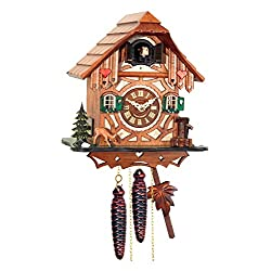 Alexandor Taron Home Decor Engstler Weight-driven Full Size Cuckoo Clock - 9H x 8.5W x 5.5D