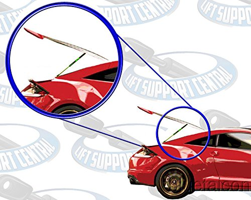 Not 2+2 Left and Right Side LSC-0707-2 Lift Support Central Two Rear Hatch Gas Charged Lift Supports for 1984-1989 Nissan 300ZX