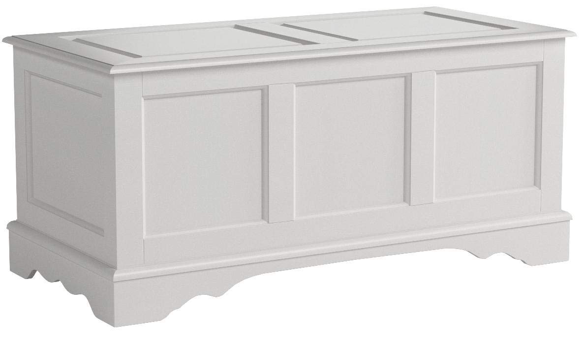 Carolina Chair & Table 4119 AP Camden Hardwood Blanket Chest, Antique Parchment by Carolina Chair & Table