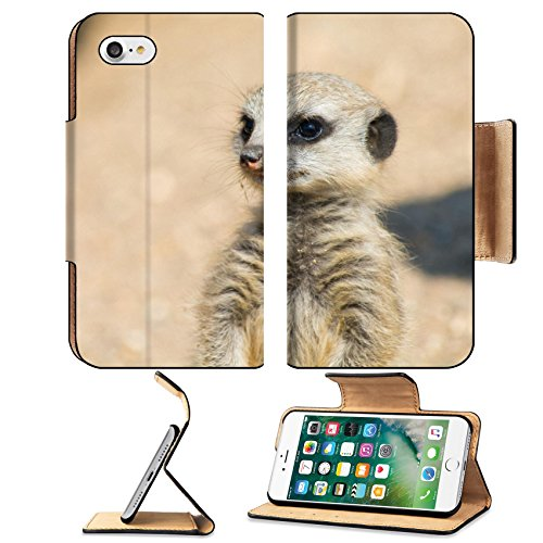 Liili Apple iPhone 7 Pu Leather Flip Case A Meerkat watching out for the group iPhone7 Plus Image ID - Of Coupons Out Discount Africa