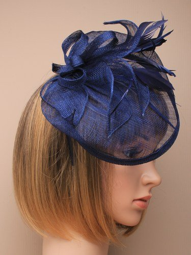 Large Navy Blue Hat Fascinator Weddings Ladies Day Race Royal Ascot   Amazon.co.uk  Beauty ad215f214f3
