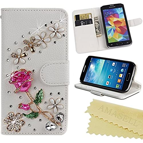 Galaxy S7 Case, Ebest Handmade Bling Crystal Rhinestone Folio Wallet Stand PU Leather Case with cash/card holder Sales