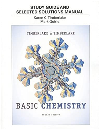 Study Guide and Selected Solutions Manual for Basic Chemistry