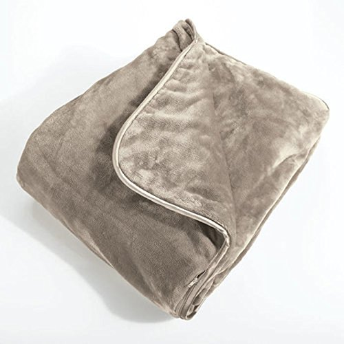 Brookstone World's Softest Weighted Blanket (12 pound) with Machine Washable Ultra-Soft Nap Fabric Cover - Designed for Deep Sensory Relaxation, Stress and Anxiety, and Luxurious Sleeping