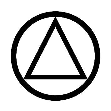 Amazon Alcoholics Anonymous Symbol Temporary Tattoo Recovery