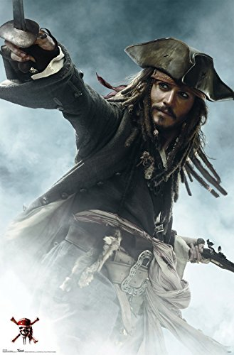 Trends International Pirates of The Carribbean 3 Jack Sparrow Wall Poster 22.375