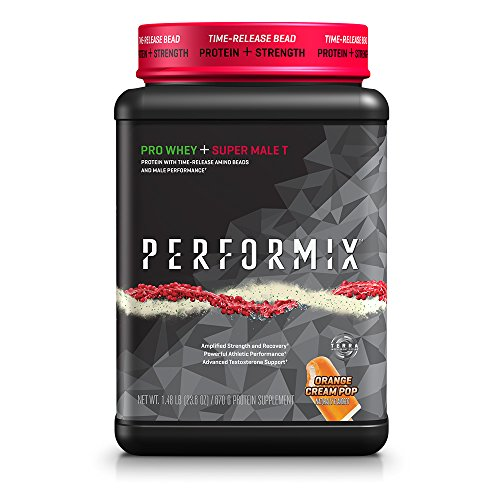 PERFORMIX Pro WHEY + Super Male T Protein Powder with Time-Release and Amino Beads and Male Performance - Orange Cream Pop