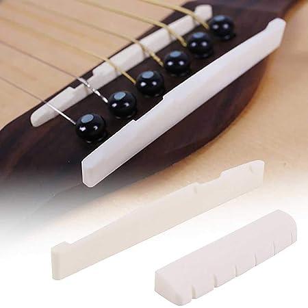 Accesorios de repuesto para guitarra, juego de tuercas de puente ...