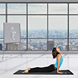 Yoga-Mat-Best-Premium-Thick-Exercise-Mat-Great-for-Aerobic-and-Pilates-Use-At-Home-and-Gym-With-Strap-Carrier-For-Man-and-Woman-No-Hassle-1-Year-Guarantee-Black