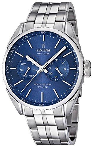 Festina Men's Quartz Watch Klassik Multifunktion F16630/4 with Metal Strap
