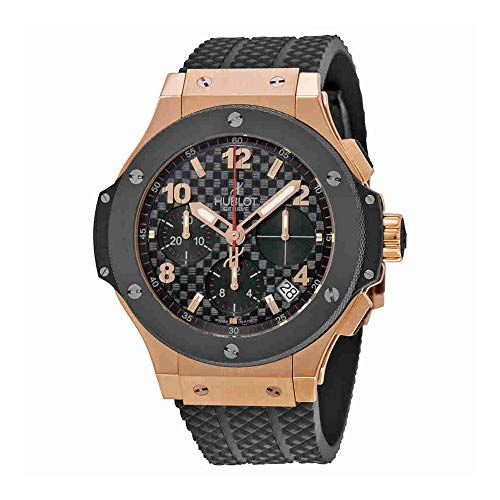 Hublot Big Bang Automatic Black Checker Pattern Dial Black Rubber Mens Watch 341.PB.131.RX