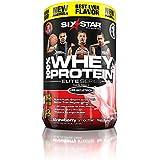 Six Star Pro Nutrition 100% Whey Protein Plus, 907g Ultra-Pure Whey Protein Powder, Strawberry, 2 Pound