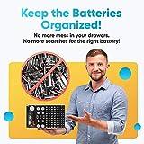 Battery Organizer Storage Case with Tester