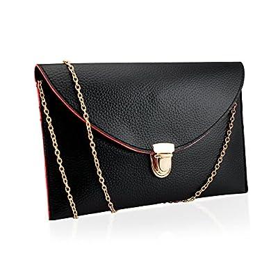 GEARONIC TM Fashion Women Handbag Shoulder Bags Envelope Clutch Crossbody Satchel Purse Leather Lady Bag
