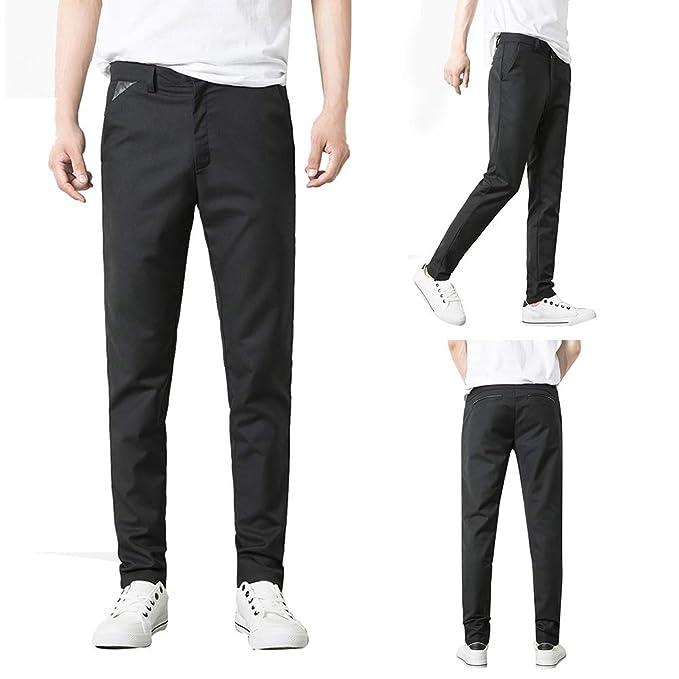 0dcf79b9 Amazon.com: shengyuze Business Men's Formal Suit Trousers Slim Fit ...