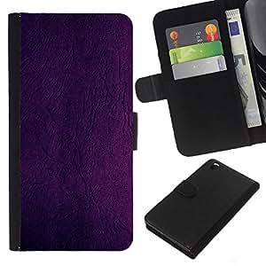 Be-Star la tarjeta de Cr¨¦dito Slots PU Funda de cuero Monedero caso cubierta de piel Para HTC DESIRE 816 ( Peinture pourpre Wall Design Couleur )