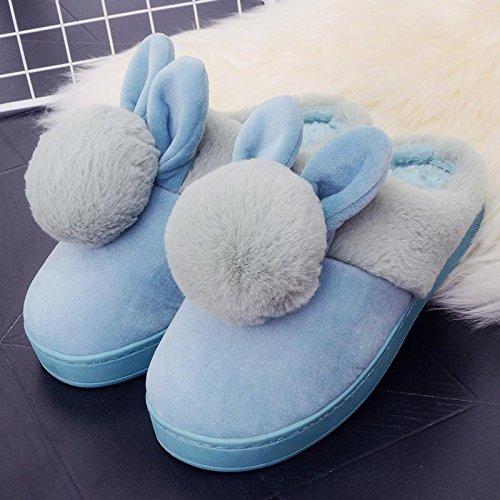 Fankou il creative paio di pantofole di cotone uomini pacchetto con linverno piscina home dormire scarpe Jane ha un antiscivolo tendenze Moda 1809 ,43-44, (verde)