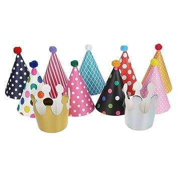 yyuezhi 11 Piezas Sombreros de Papel del Cumpleaños ...
