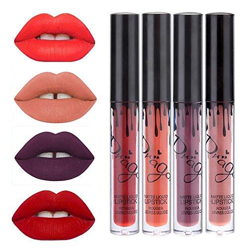 Coosa 16pcs Waterproof Long Lasting Matte Liquid Lipstick Lip Gloss, Set of 16 Women Cosmetic Makeup Bold & Velvet Non Stick-on Cup Lipsticks Set