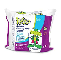 Kandoo Flushable Biodegradable Potty Training and Kids Cleansing Wet Wipes with Moisturizing Lotion Refills, Magic Melon Scent, 100 Count (Pack of 6)