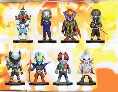 Rider series World Collectable Figure vol.12 WCF Banpresto (all eight species full comp set) (japan import) by Banpresto