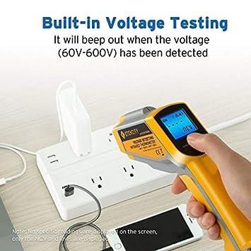 -50℃~550℃ NCV with Adjustable Emissivity ETEKCITY 1 Digital Dual Infrared Laser Thermometer Temperature Gun-58℉~1022℉ Non-Contact Voltage Tester