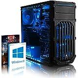 VIBOX Gaming PC - Ripsaw 24 - 4.2GHz Intel i7 Quad Core CPU, GTX 1070 GPU, VR Ready, Desktop Computer with Game Bundle, Windows 10 OS, Blue Internal Lighting and Lifetime Warranty* (Super Fast Intel i7 7700 Kabylake 4-Core CPU Processor, Nvidia GeForce GTX 1070 8GB Graphics Card, 16GB DDR4 2133MHz High Speed RAM Memory, 2TB (2000GB) Sata III 7200rpm Hard Drive HDD, Aerocool 600W 85+ PSU Power Supply, Corsair Carbide Spec-01 Blue LED Gaming Case, Intel B250 LGA1151 Motherboard)