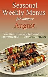 Seasonal Weekly Menus: Summer Menus for August