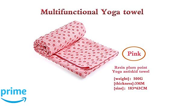 "Yoga Towel, Yoga Mat Towel Non Slip 72""x24"" Absorbent Microfiber Hand Towel for Bikram, Hot Yoga, Fitness, Exercise, Machine Washable"