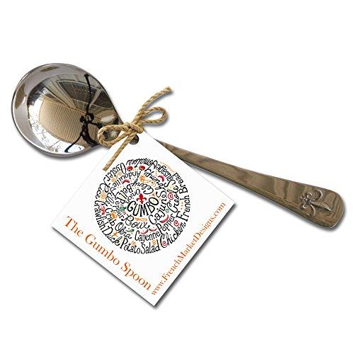 The Cajun Gumbo Spoon, Set of 4 (Stainless Steel)