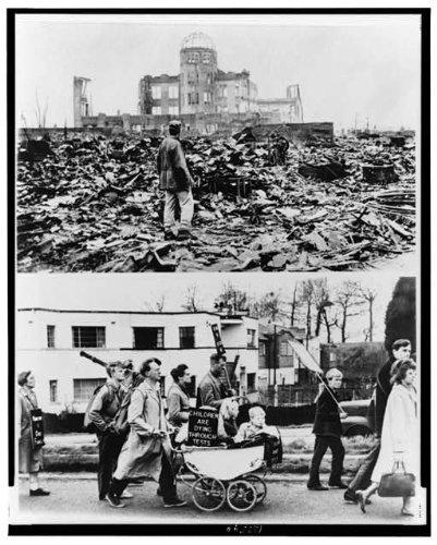 HistoricalFindings Photo: World War Damage,WWII,Hiroshima,Japan,Genbaku Dome,Atomic Bomb,England,Nuclear