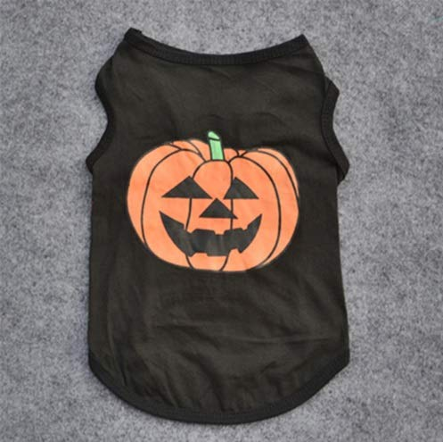 Taka Co Dog Halloween Costume Small Dog Vest Cat Dog Halloween Christmas Party Costumes Pumpkin Suit Clothes Pet Cat Product for Small Dog (Black) -