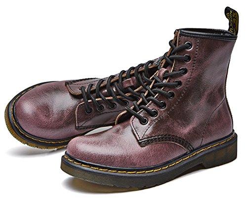 Lacets À Chaussures Martin Classiques Boots Bottines marron Flattie rouge uBeauty Sport Bottes Bottes Femme WqRFTTP0v