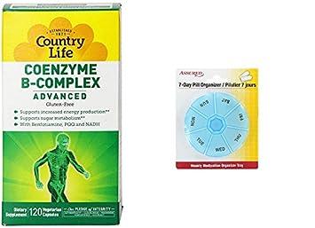 Coenzima del complejo B de la vida de país avanzado cápsulas, 120 cuenta con gratis
