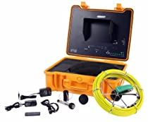 130 ft Sewer Drain Pipe Color Camera Video System DVR w/ 512Hz Transmitter & Meter Counter