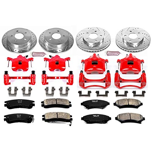 Power Stop (KC2554) Z23 Evolution Sport Brake Kit with Calipers, Front and Rear (Best Coilovers For C5 Corvette)