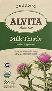 Alvita Organic Herbal Tea Bags, Milk Thistle, 24 Count