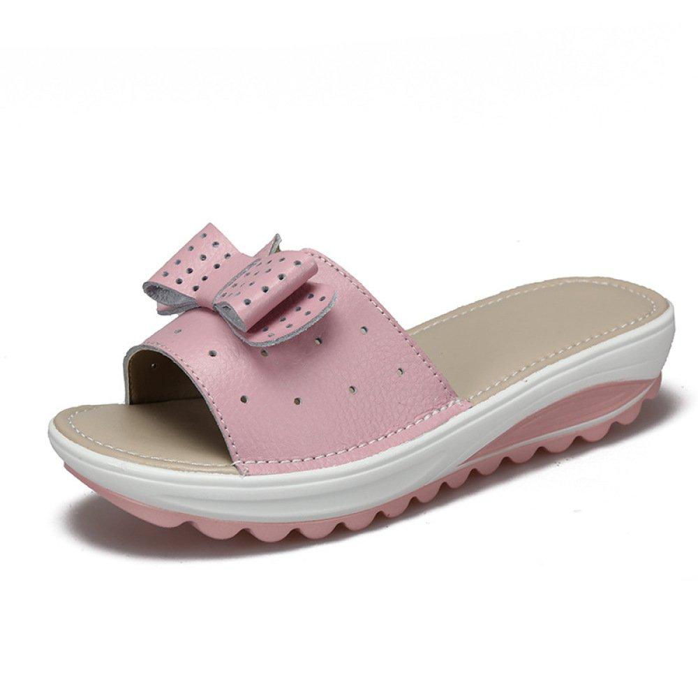 BFMEI Casual Damen Sandalen Wedges Flower Sandalen \u0026 Hausschuhe Plattformen Muffins \u0026 Schuhe  42 EU Pink