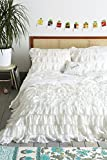 What Size Is a European King Mattress Egyptian Cotton Ruffle Duvet (Comforter) Cover Set 600 Thread Count by Kotton Culture White King