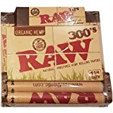 Raw 300's Rolling Papers Bundle - 300 Raw 1 1/4 Organic Papers, 300