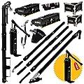 "DEWALT Standard Automatic Taping/Finishing Set - Med. Length Extendable Handles | Auto Taper, 10/12"" Std Flat Boxes, Corner Applicator, 3/3.5"" Angle Heads, Corner Roller, Pump, Gooseneck | 2-602"