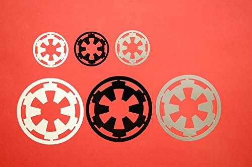 Set Of Star Wars Galactic Empire Imperial Logo Sticker Vinyl